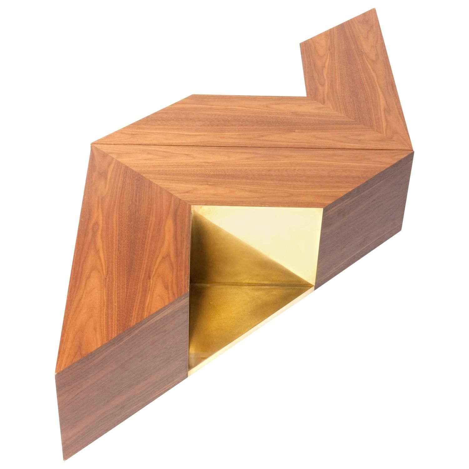 Coffee table triangles from a unique collection of