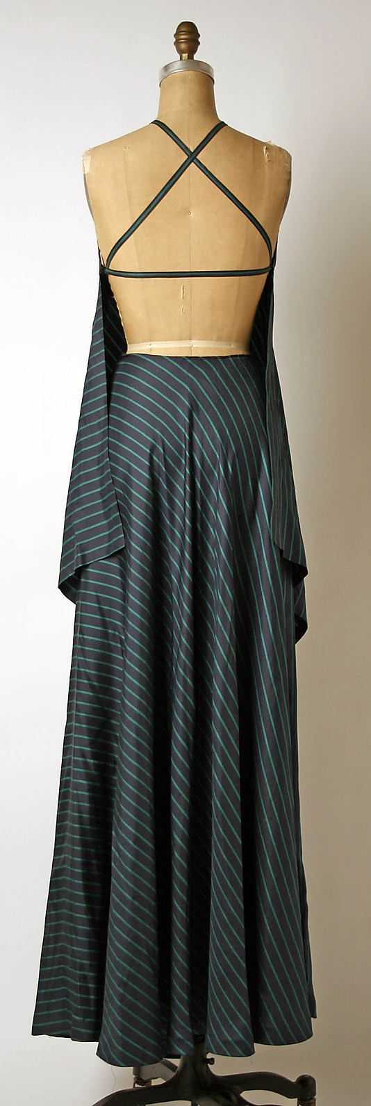 Evening ensemble - Madame Gres 1976 - Back View. This is the perfect evening dress - so simple and elegant