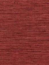 WALLPAPER BY THE YARD Deep Red Faux Grasscloth Texture Woven Natural EX3068