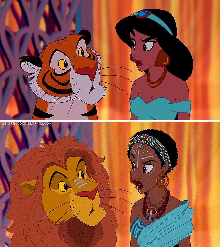 E se principesse Disney erano da diversi paesi?