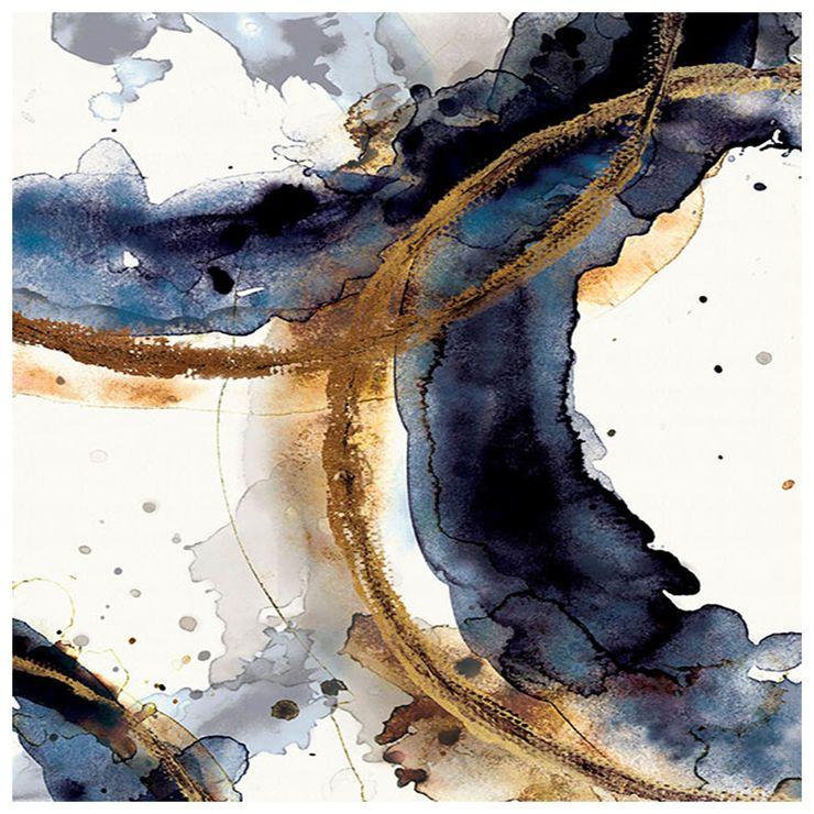 Rings Watercolor Blue Canvas Art In 2020 Blue Canvas Art Art