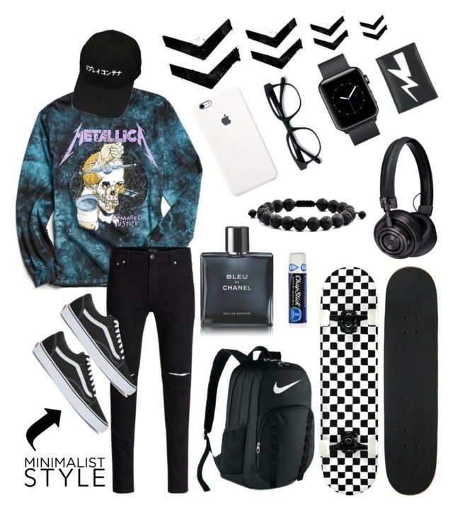"""""""Untitled #14"""" by brybrymoney on Polyvore featuring Urban Outfitters, Vans, West Coast Jewelry, NIKE, Chanel, Chapstick, Master & Dynamic, Neil Barrett, men's fashion and menswear"""