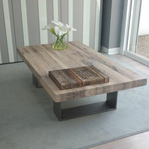 wohnzimmertische aus holz mit schlichtem design Wohnzimmer Tisch