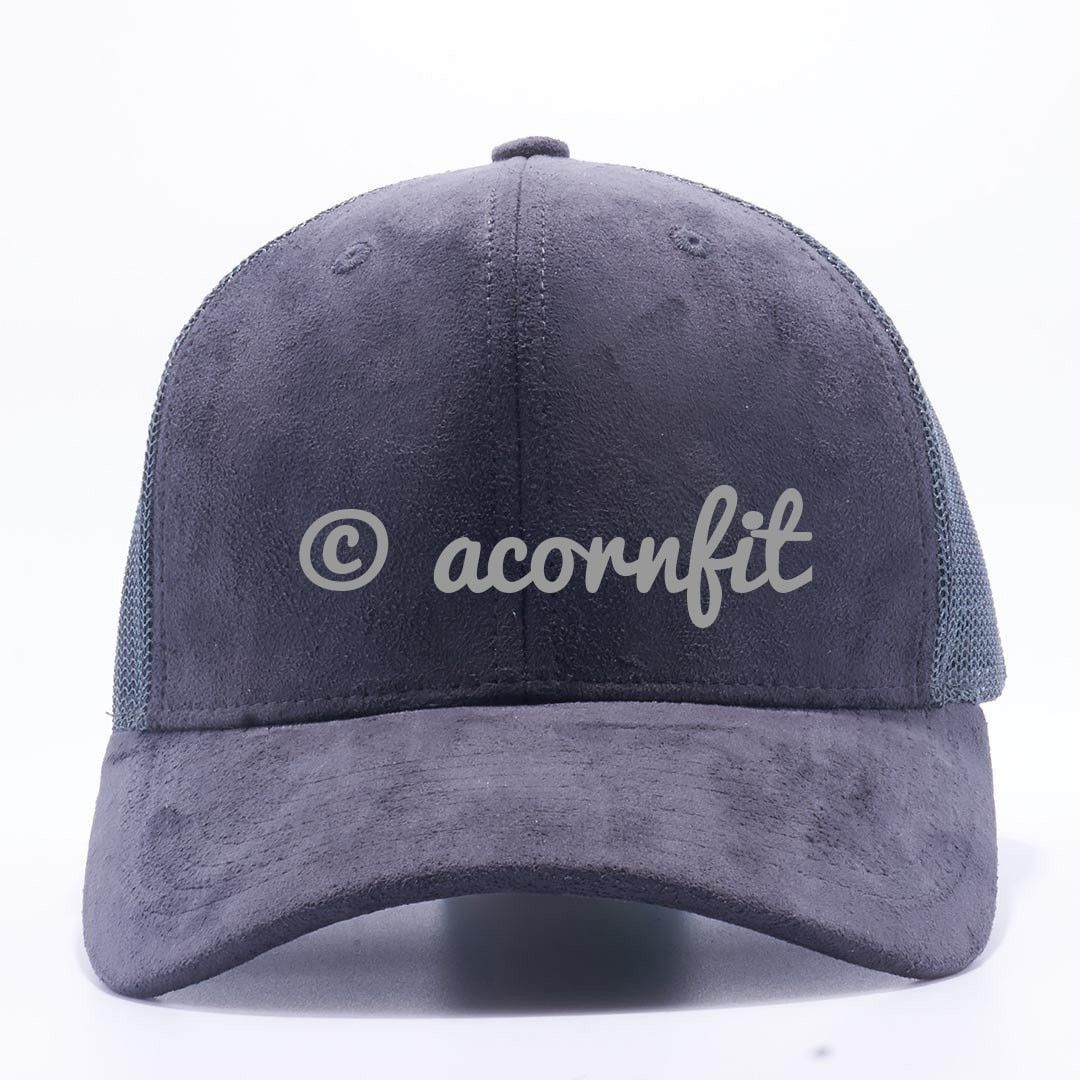 33a8628029c Suede Trucker Hat Wholesale  Charcoal