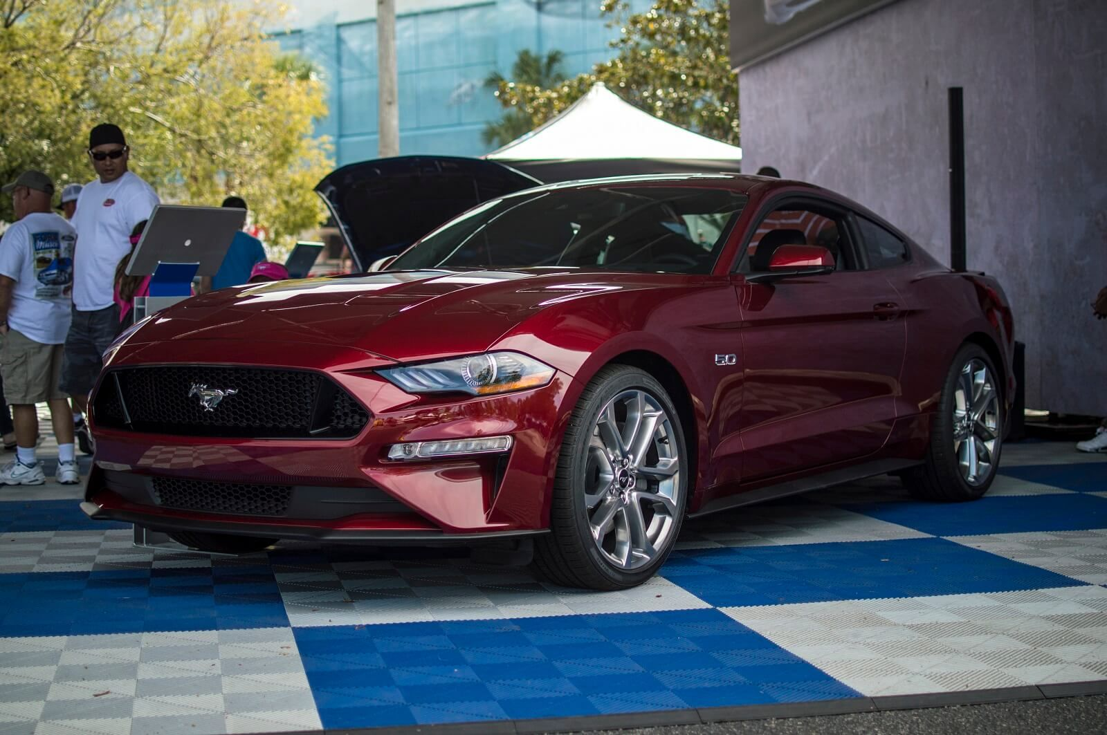 2018 mustang gt ruby red