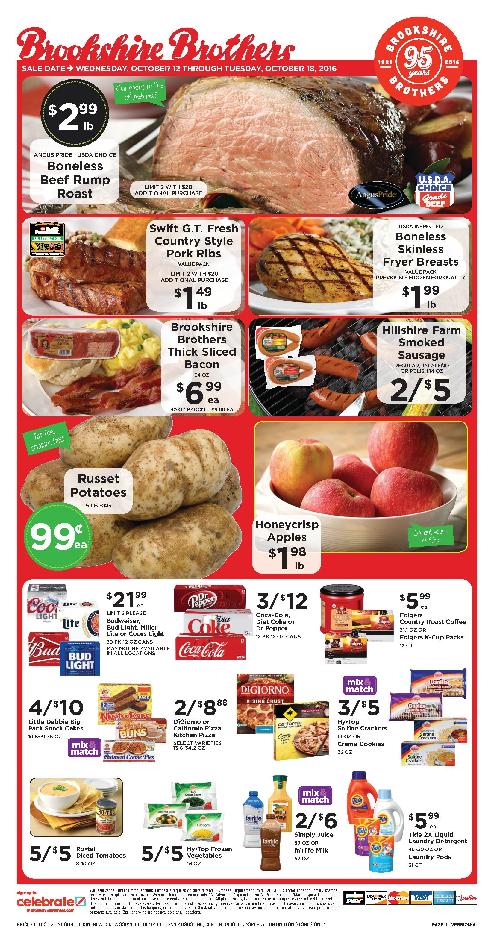 Brookshire Brothers Ad Specials http//www.myweeklyads