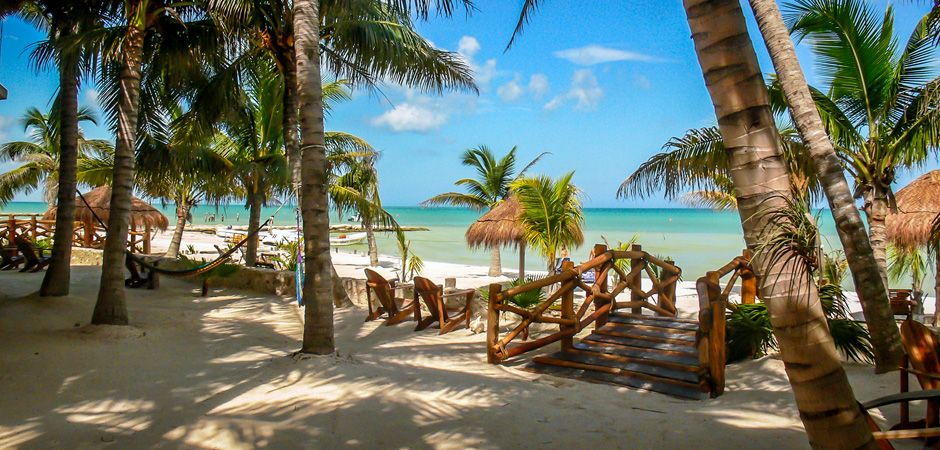 Beachfront Hotel La Palapa Enjoys A Prime Location On Holbox Island Mexico Where The Caribbean Sea Meets Calm Water Of Gulf