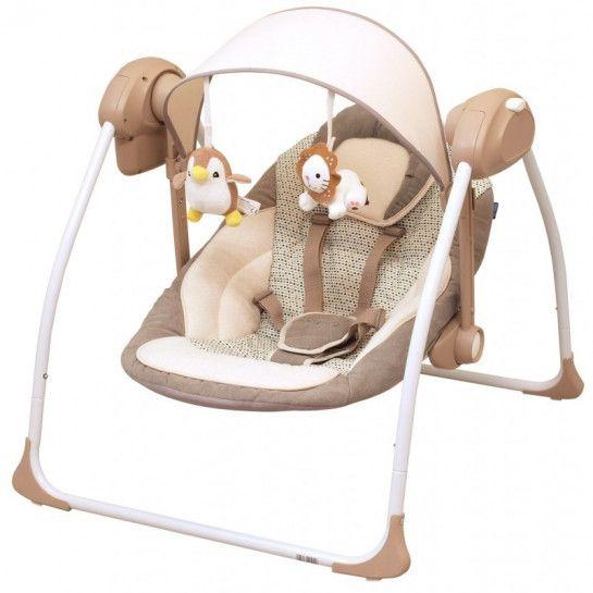 Baby Schommelstoel Met Muziek.Babymix Baby Swing Brown Schommelstoel Met Muziek By012
