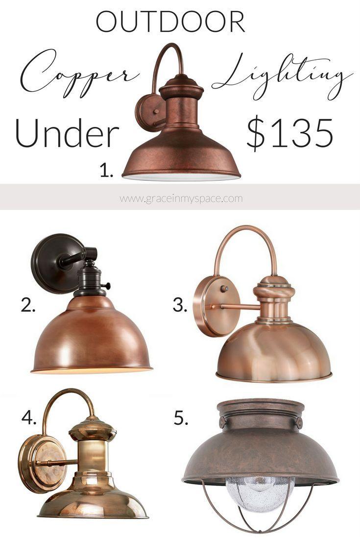 Farmhouse Copper Lighting Copper Lighting Copper Outdoor Lighting Modern Farmhouse Lighting