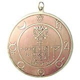 """This Key of Solomon talisman is 1¾"""" in diameter, made of brass and copper and ..."""