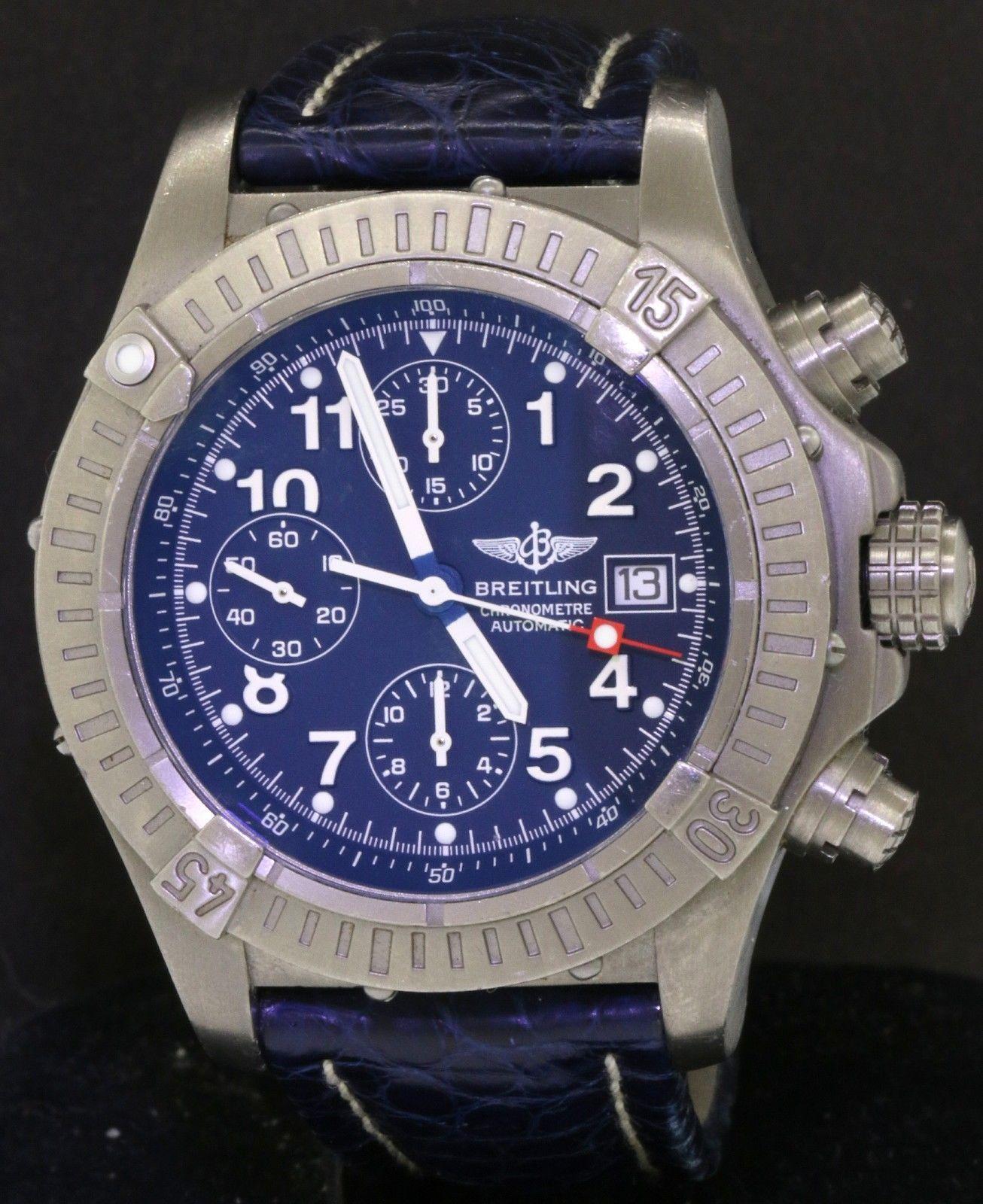 lowest price 77eb7 36363 Breitling Chrono Avenger E13360 Titanium automatic men's ...
