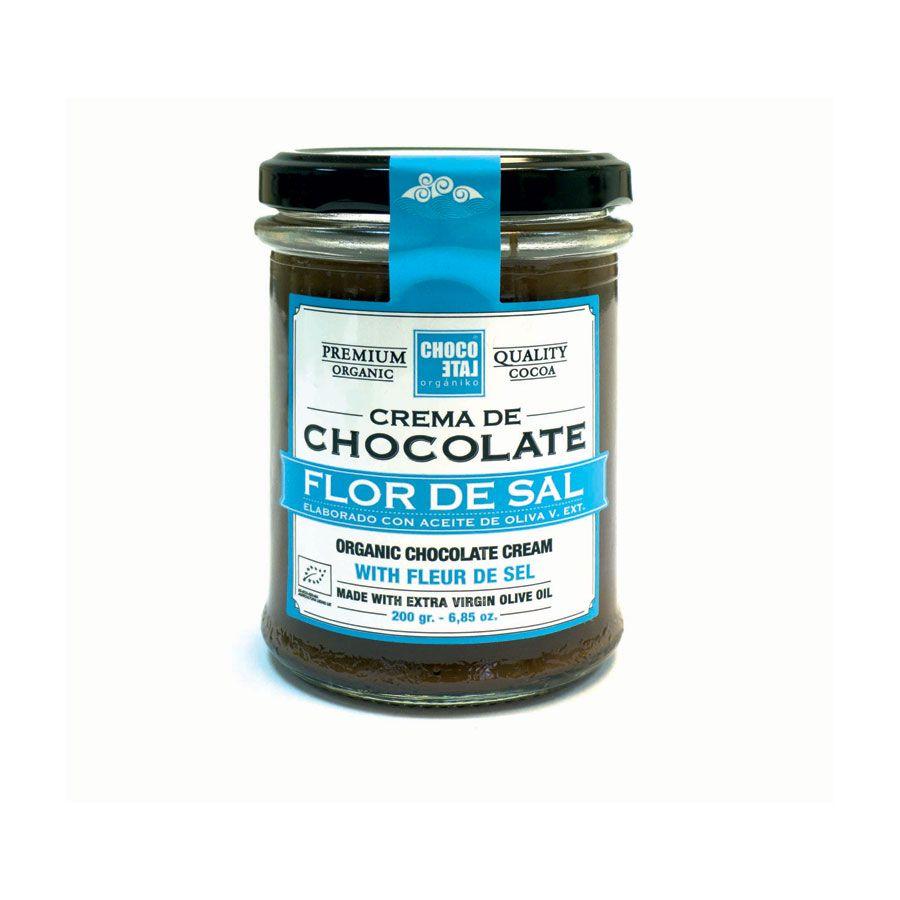 Chocolate Orgániko. Crema de Chocolate de Flor de Sal.