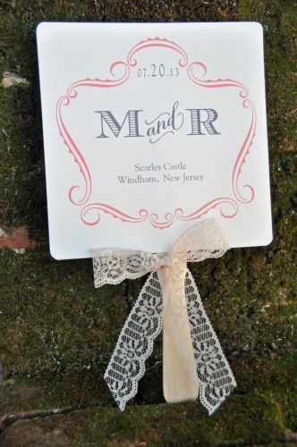 Wedding Favor Fans With Lace Ribbon Bow REALLY CUTE IDEAMAYBE PROGRAMS