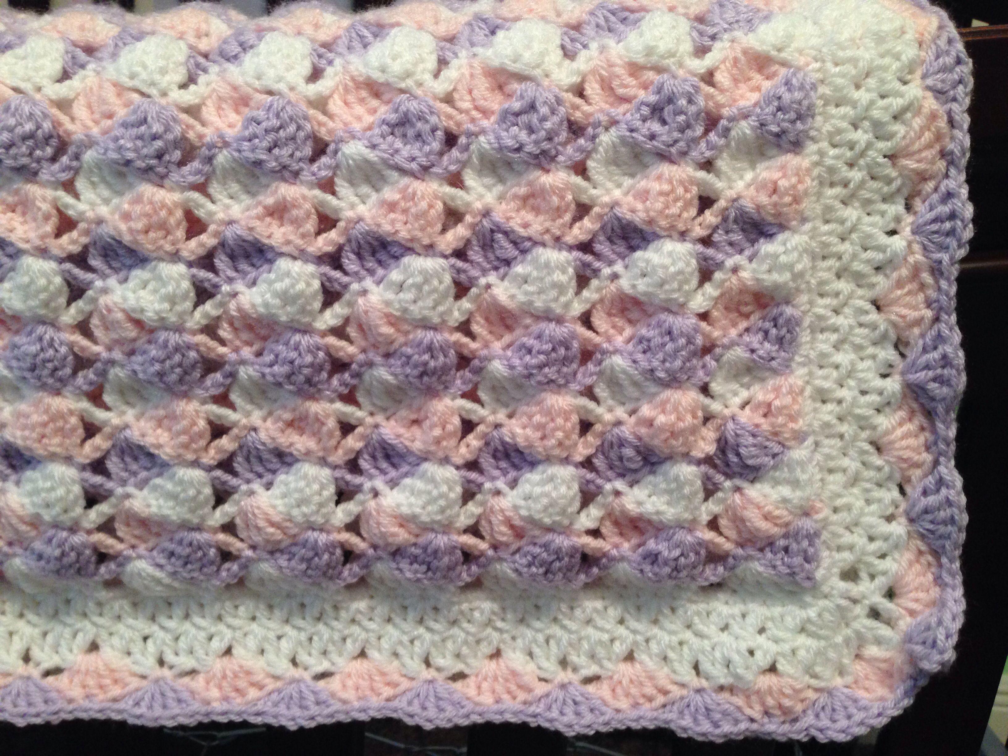 Purple pink white crochet blanket pattern found here httpwww purple pink white crochet blanket pattern found here httpetsy dt1010fo