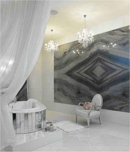 Lapicida Spa Bathroom Stone Wall GUSH