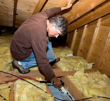 If There Is No Flooring Over The Ceiling Joists Adding Loose Insulation Is As Easy As Emptying The Bags And Spreading An Even Layer If Your At With Images Attic Renovation