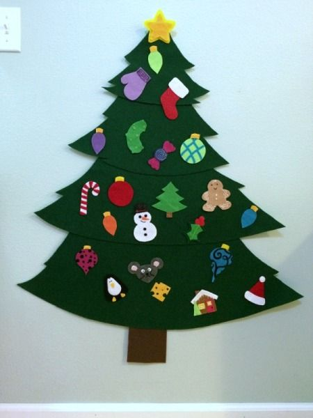 Felt Christmas Tree With Ornaments - Making Ornaments For A Felt Christmas Tree Christmas Crafts