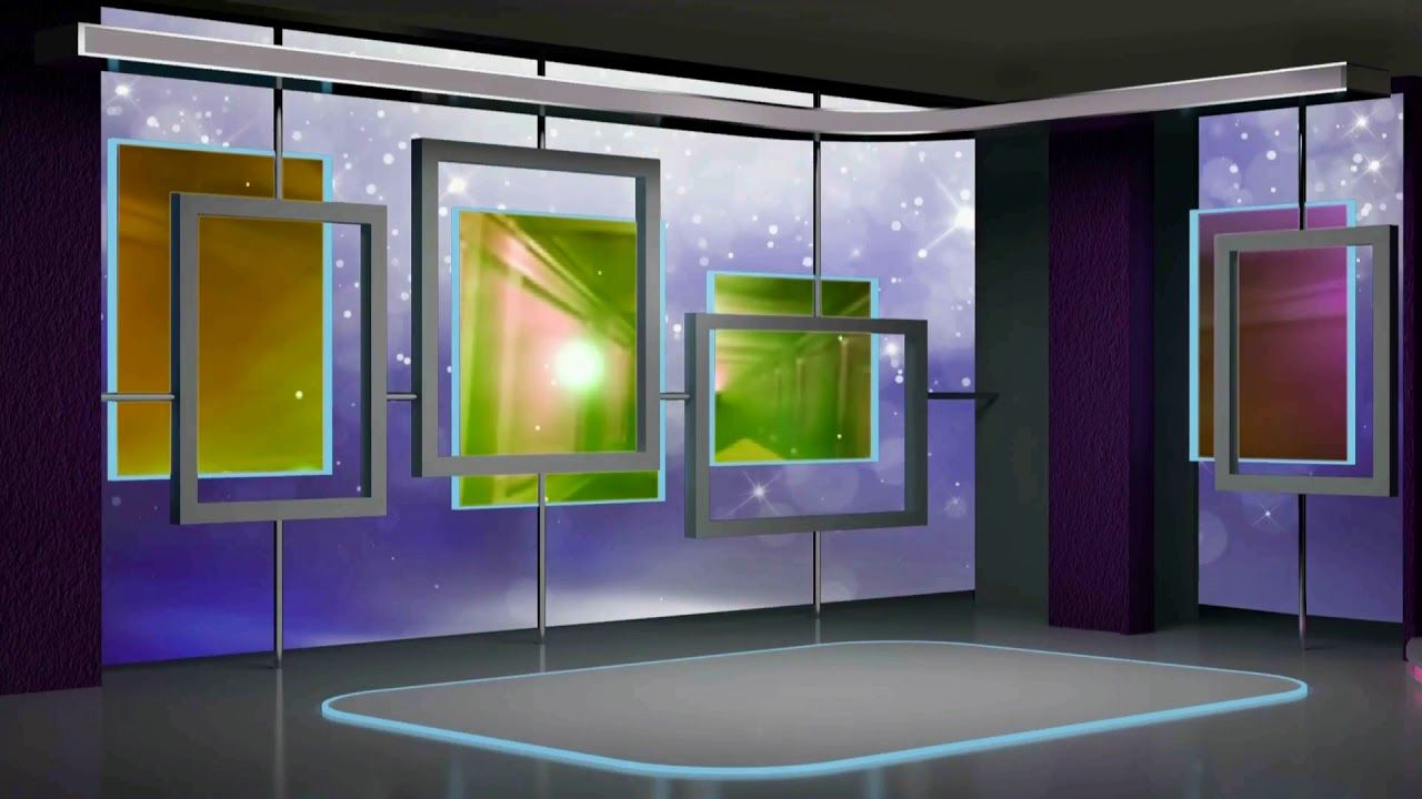 Virtual Studio Set Royalty Free Motion Background Loops-5057