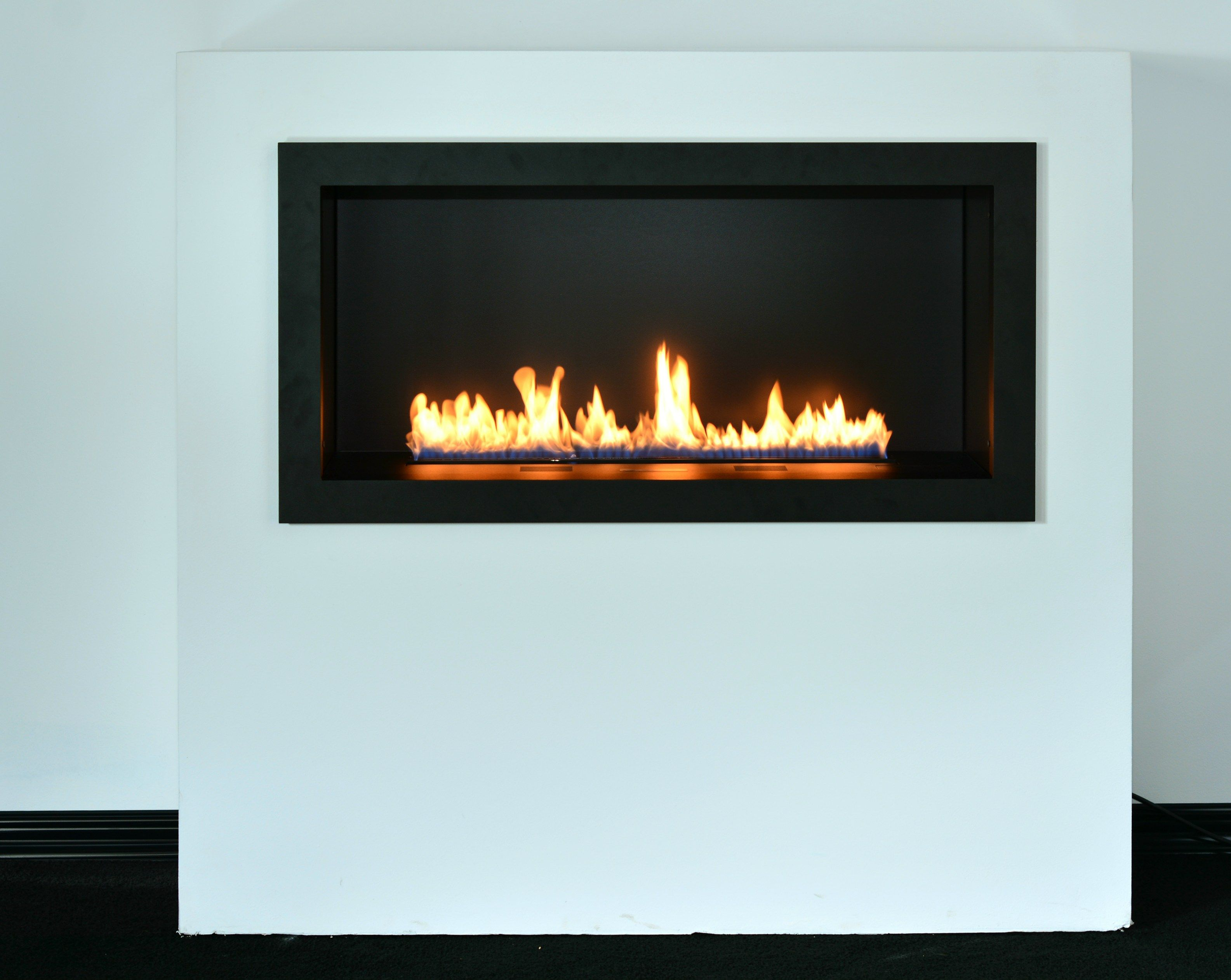 Chimenea empotrada de bioetanol de pared primefire in casing by planika chimineas - Chimenea bioetanol pared ...
