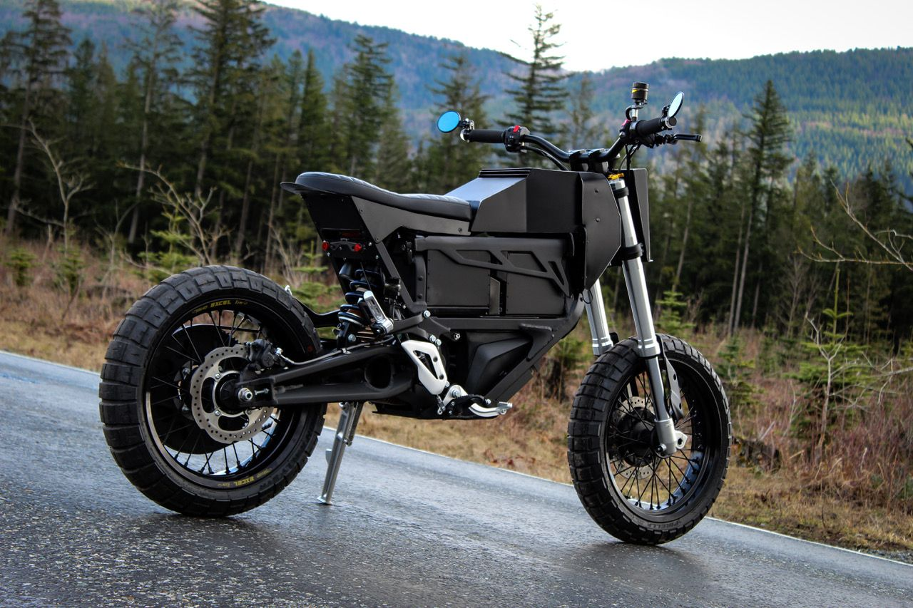 Electric Motorcycle Built Out Of A Zero Fx By Droog Moto In 2020