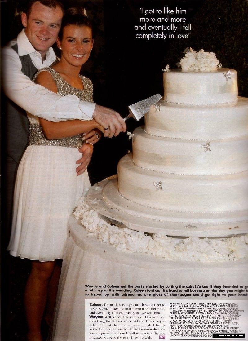 Mr Mrs Wayne Rooney Cutting Their Yummy Cake