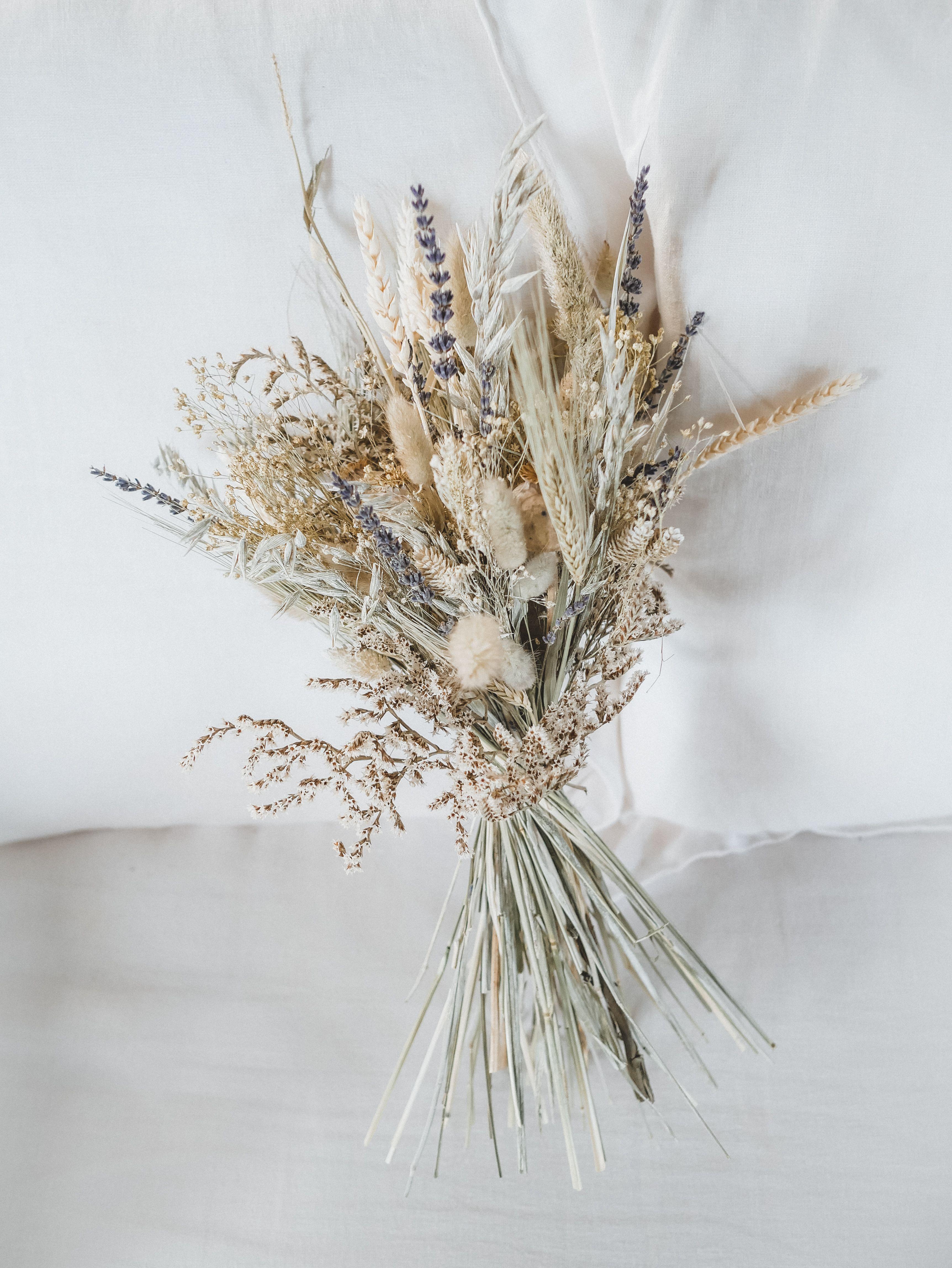 Un Beau Bouquet De Fleurs Sechees Aux Couleurs Douces Et