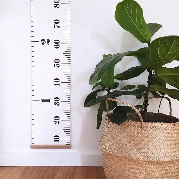 Wooden Kids Growth Chart Children Room Wall Hanging Height Measure Ruler Decor