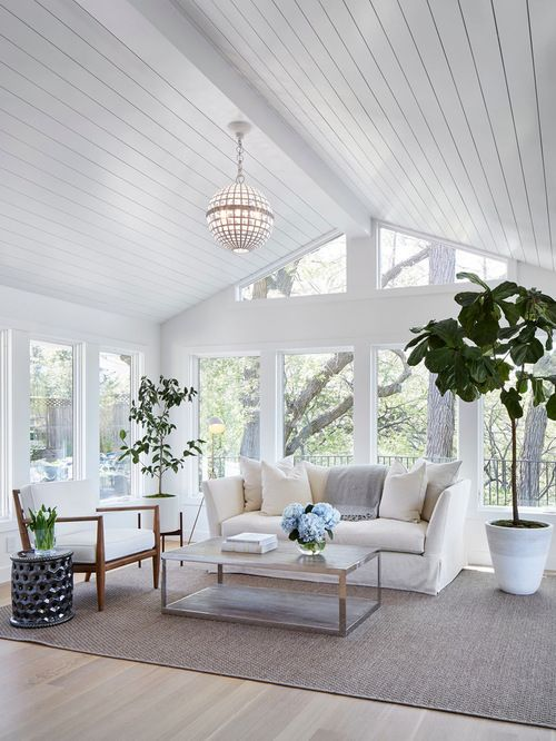 Sunroom Design Ideas Remodels Photos Houzz I Beauteous Living Room Window Design Ideas Remodelling