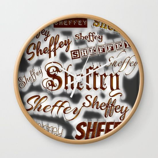 Sheffey fun fonts wall clock