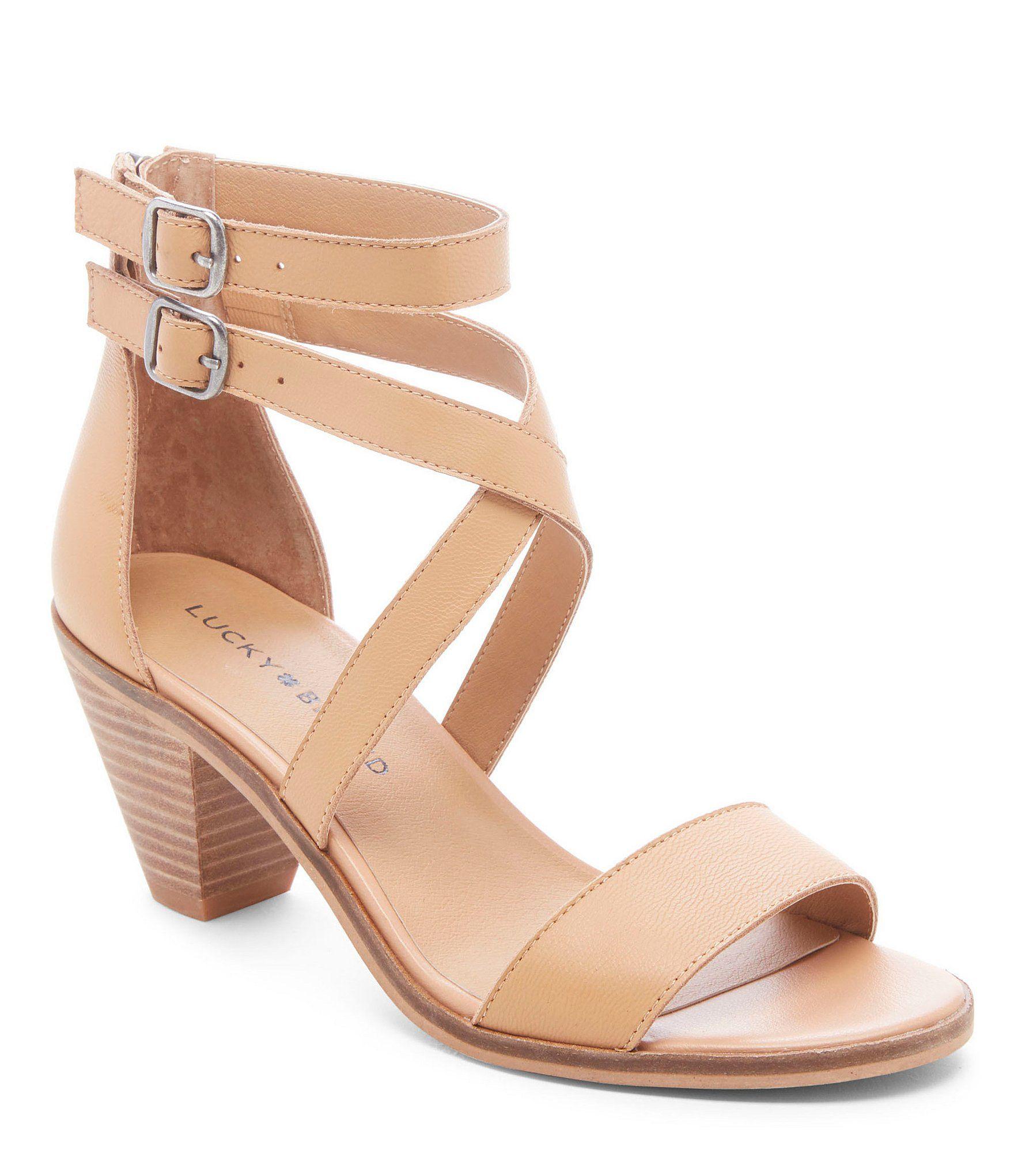 ccf7b2e7f0d TOMS Camilia Leather Geo Woven Block Heel Sandals  Dillards