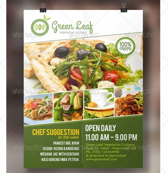 With these beautiful restaurant flyer templates you could create - restaurant flyer