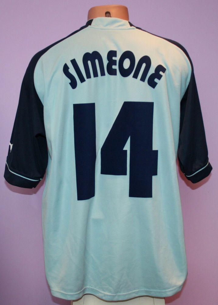 2a0a1d885 Simeone   14 ss lazio 2002 2003 ucl home siemens puma shirt size xl