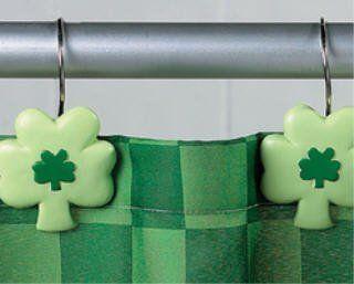 Shamrock Shower Curtain Hooks Rings St Patrick S Day Saint Pat S