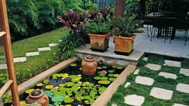 Paisaje Natural En Su Propio Jardin Cien Fabulosas Ideas - Estanque-rectangular