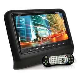 Headrest Vehicle 9'' Video Display Monitor, CD/DVD Player, USB/SD Readers, HDMI Port (Black)