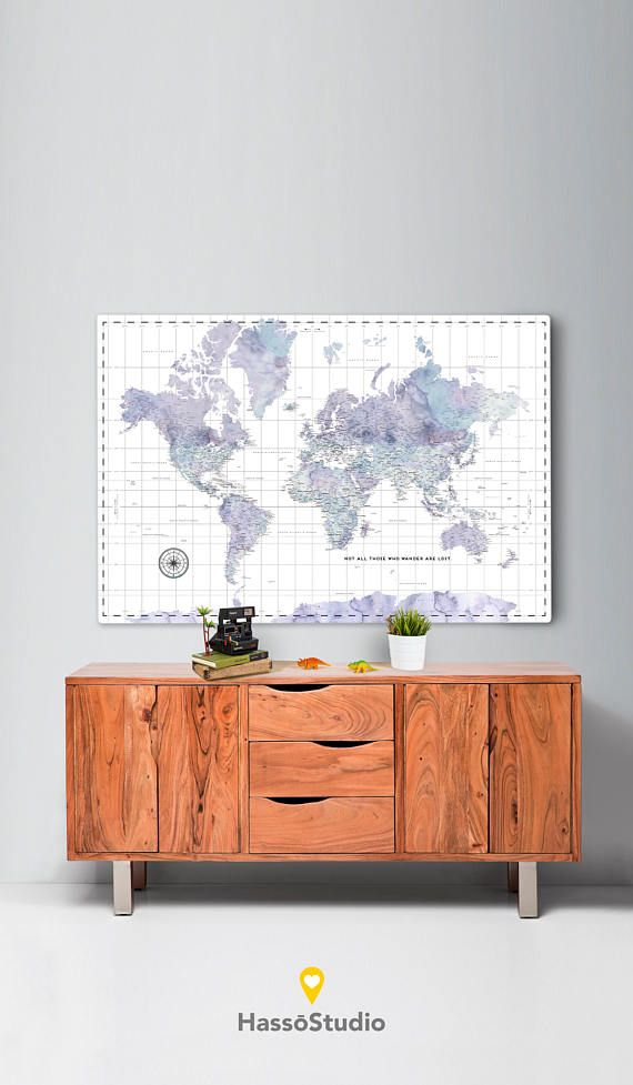 Custom world map canvas ready to hang canvas wrap choose size custom world map canvas ready to hang canvas wrap choose size purple gumiabroncs Images