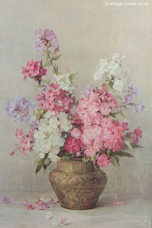 Vintage Home - Delicate Phlox Oil Painting: www.vintage-home.co.uk ...