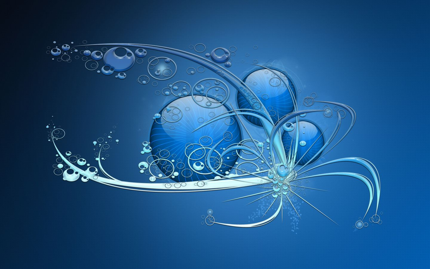 Love Hd Wallpaper Widescreen 3d : Beautiful Pure Abstract Blue Background Desktop ...