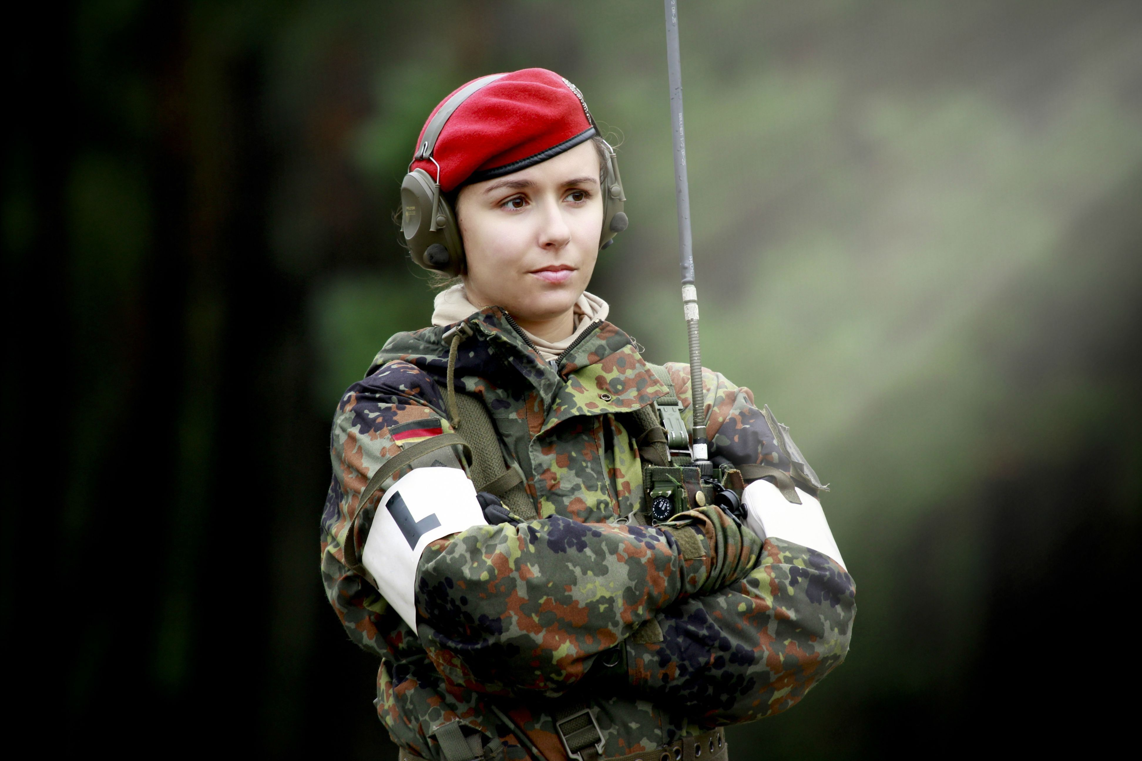 echte Armeemädchen
