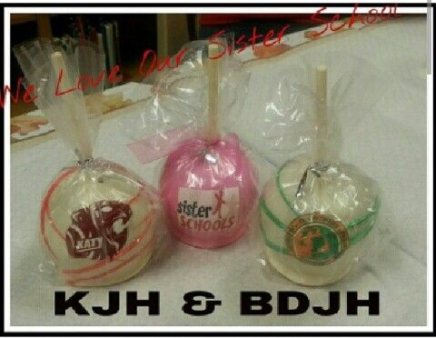 Katy Junior high & Berkondoff Junior high custom candy apples