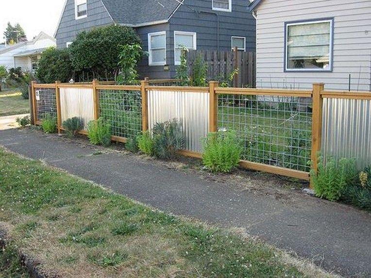 47 Incredible Garden Fence Designs Ideas Corrugated Metal Fence