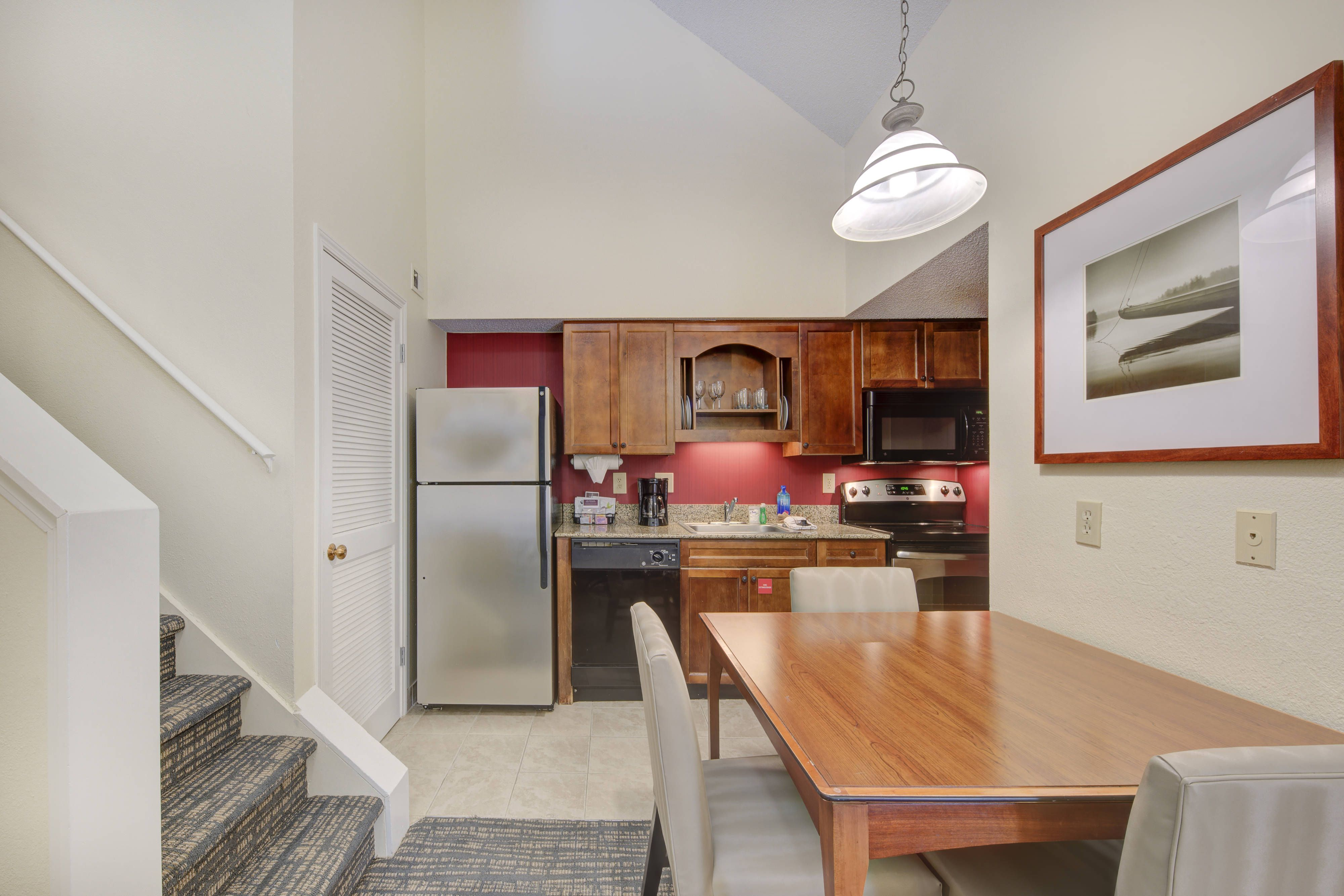 Residence Inn Raleigh Midtown Penthouse Kitchen Guestroom
