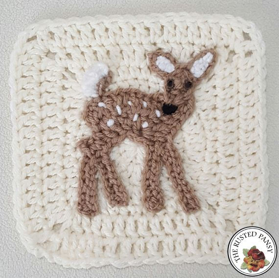 WIP 05/03/17 Woodland Themed Afghan – Whitetail Fawn Applique ...