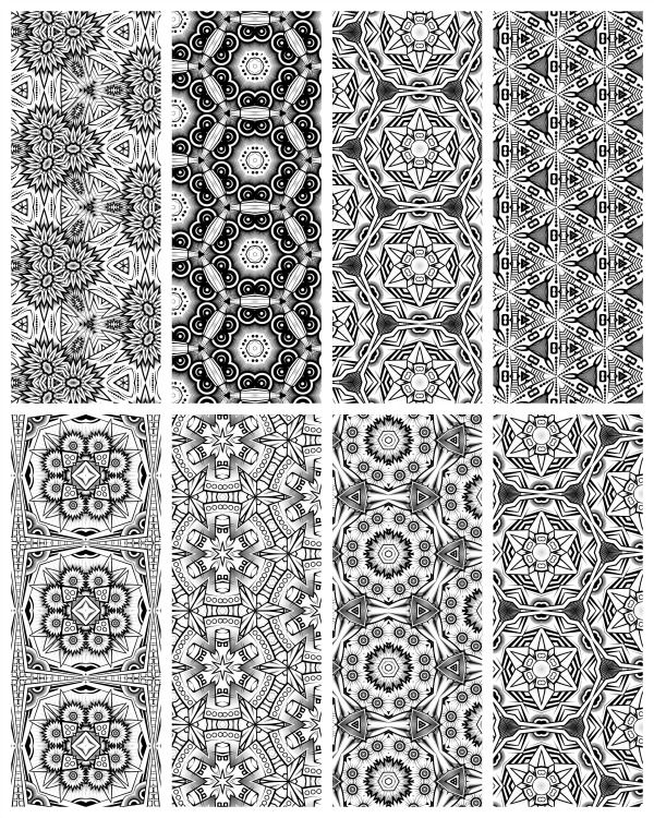 Coloring Page Printable Bookmarks Mosaic books Adult coloring