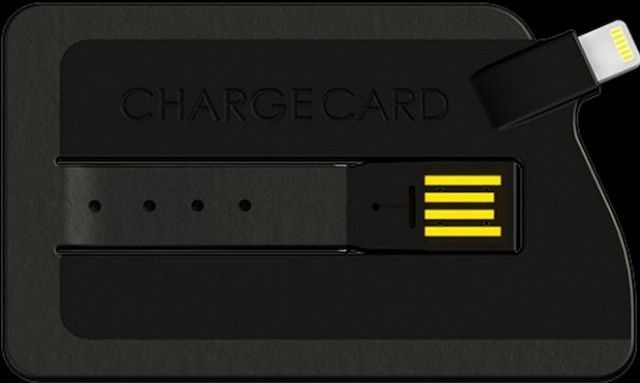 Credit card form factor charger for your iPhone 5 coming in May - credit card form