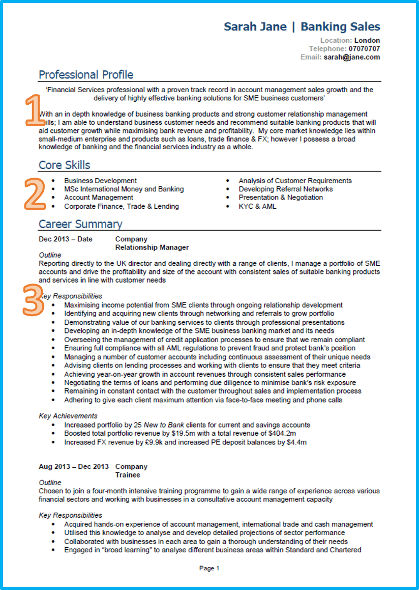 1 Page Cv Template Uk Good cv, Cv template, Resume templates