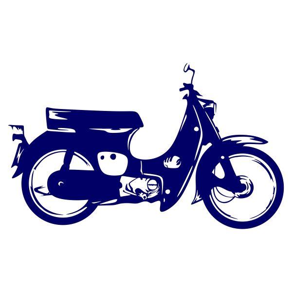 Retro Bike Cuttable Design Motorcycle Illustration Retro Bike Stencil Art