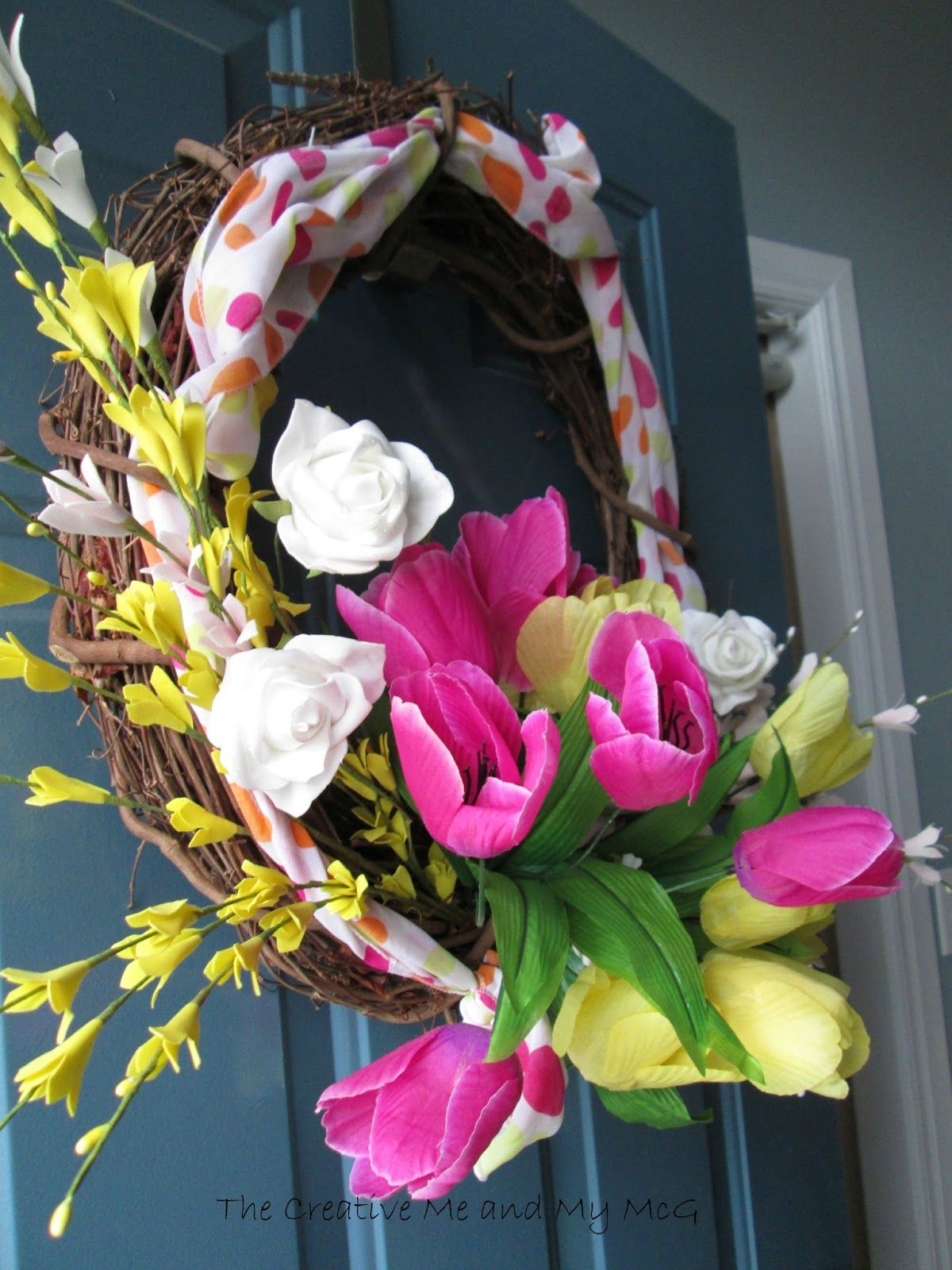 """The Creative Me and My McG: """"Spring""""-ing out a New Wreath!"""