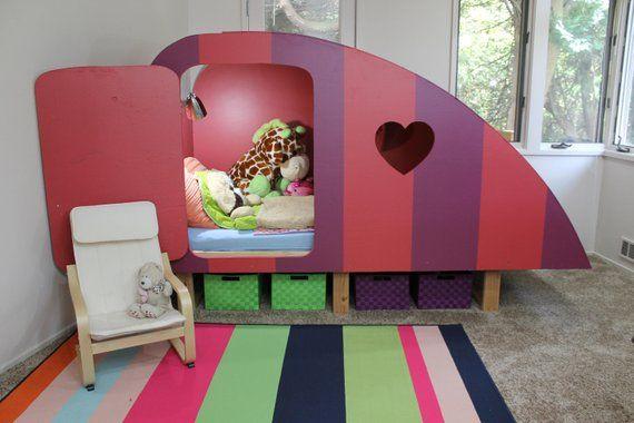 Digital Download / Kids Bed / Girl Bed / Boy Bed / Childrens Bed / Girls Bedroom Furniture / Boys Bedroom Furniture / Twin Bed Plans /Camper #palletbedroomfurniture