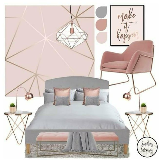 Zara Shimmer Metallic Wallpaper Soft Pink Rose Gold in ...
